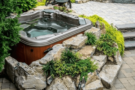 Natural Setting Hot Tub Patio