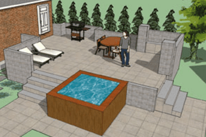 use 3d design tools for a better idea on the finished project hot tub